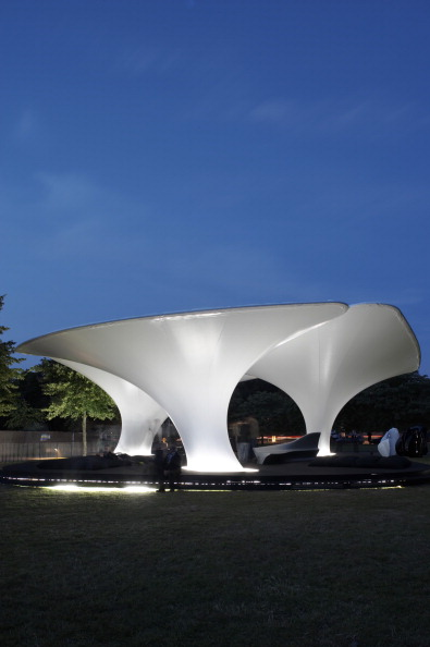 Zaha Hadid's Lilas Pavilion - at the Serpentine Gallery in London, United Kingdom.