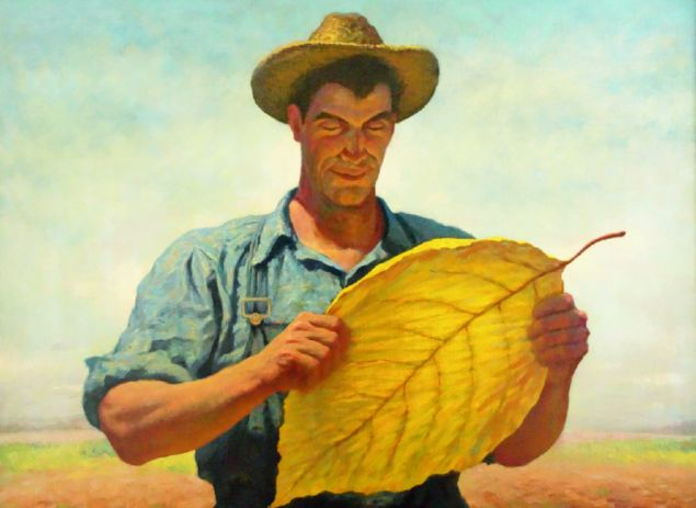 James Chapin, Boy, That's Tobacco, ca. 1942. Associated American Artists for American Tobacco Company.