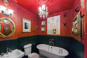 Quite the bathroom here.