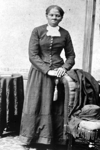 A portrait of Harriet Tubman in the prime of her work as an abolitionist
