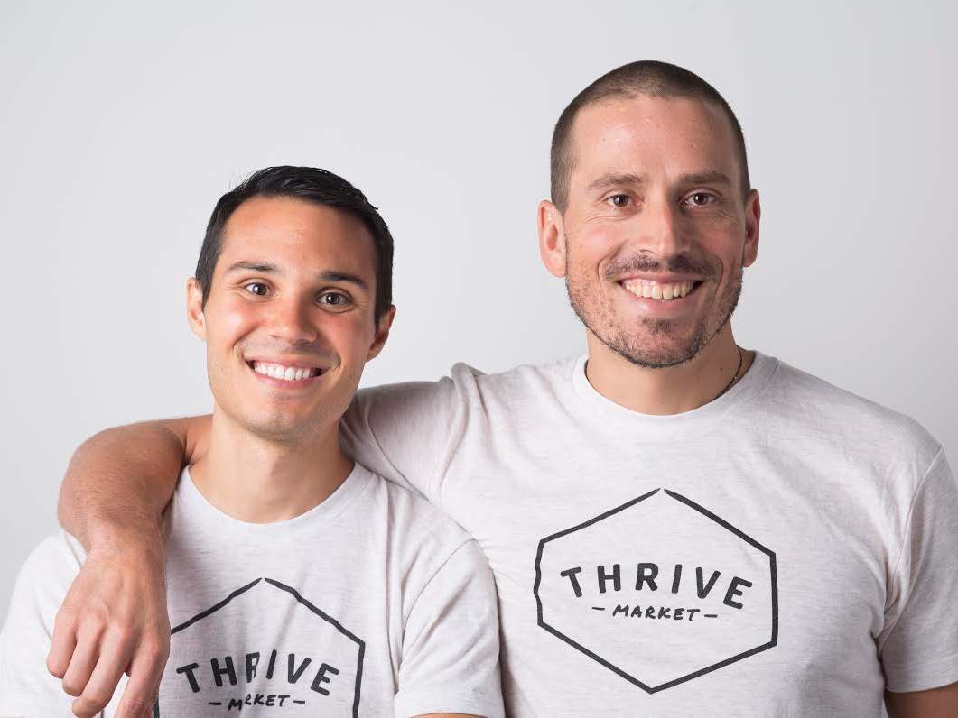 Thrive Market cofounders, Nick Green and Gunnar Lovelace.