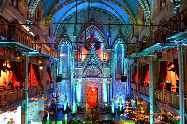 A view of HBO's Art the Throne: Immersive Art Experience at The Angel Orensanz Foundation.