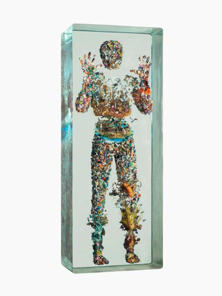Dustin Yellin, Psychogeography 83 Side, (2015).