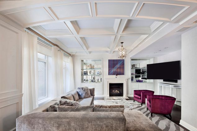 Coffered ceilings, galore.