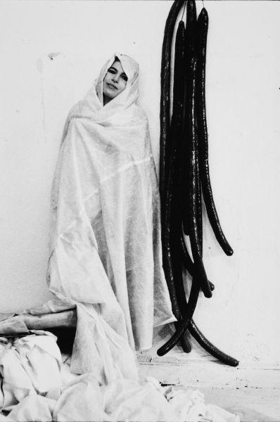 Eva Hesse in 1968. Photo by Herman Landshoff. From Eva Hesse, a film by Marcie Begleiter.