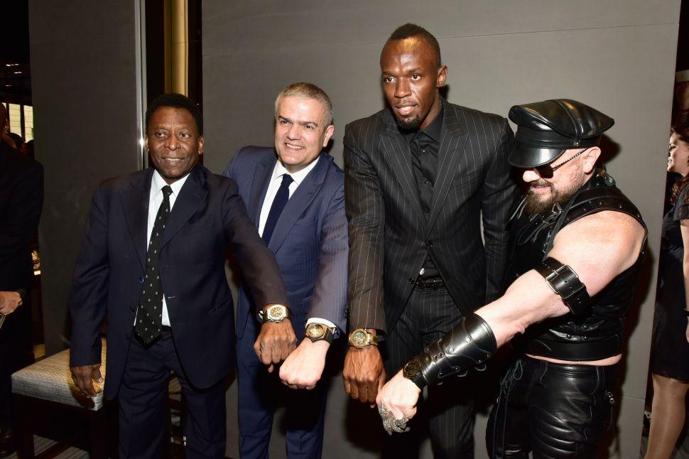 Pelé, Ricardo Guadalupe, Usain Bolt, Peter Marino