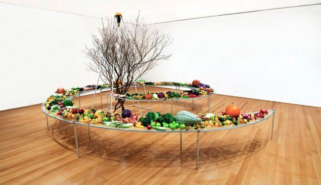 Mario Merz, Tavola a spirale (Spiral table), 1982.