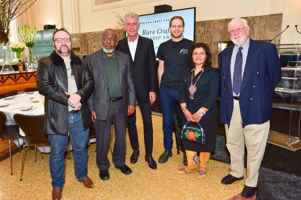 Anthony Bourdain with The Rare Craft Fellowship Awards nominees