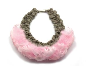 Wool and Feather Necklace by Alice Clarke