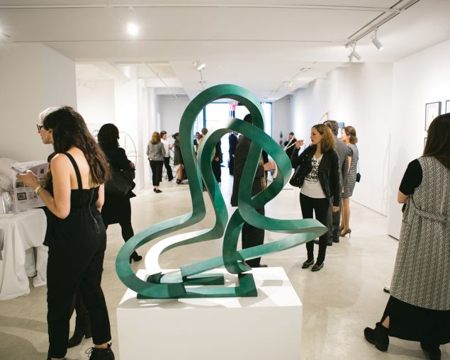 A sculpture by Mr. Carter on view at Leila Heller Gallery.