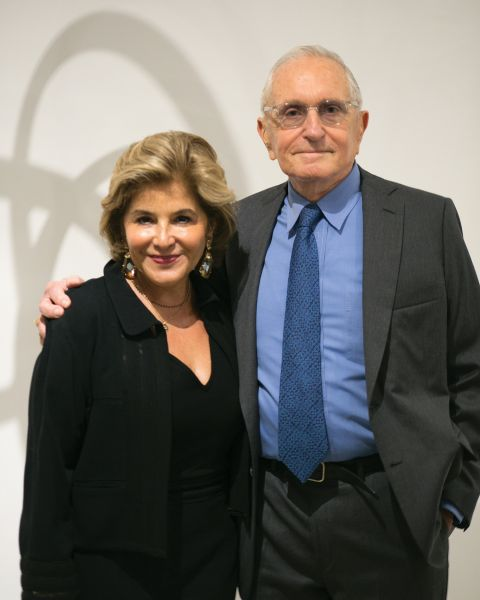Arthur Carter with his dealer Leila Heller at her Chelsea gallery.