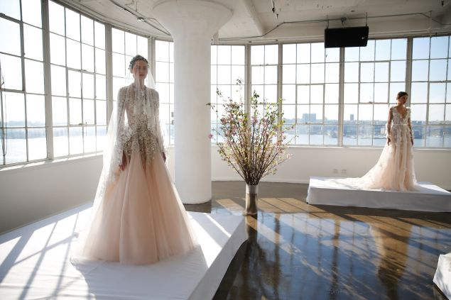 Two looks from Marchesa's Spring/Summer 2017 Bridal collection.