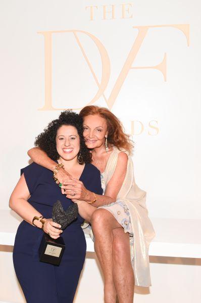 Diane Von Furstenberg and Emily Greener