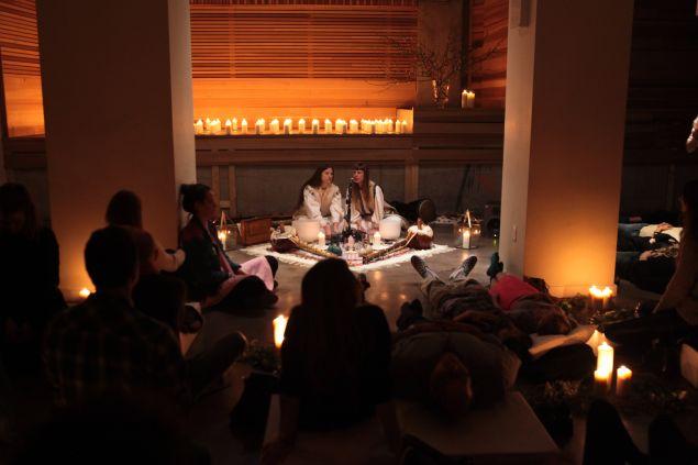 Sound meditation at Alchemist's Kitchen