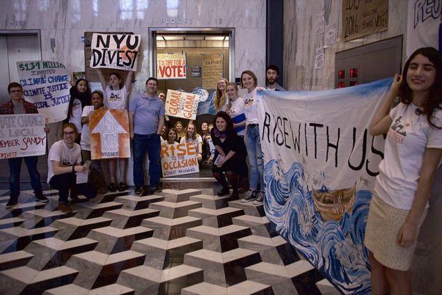 NYU protestors