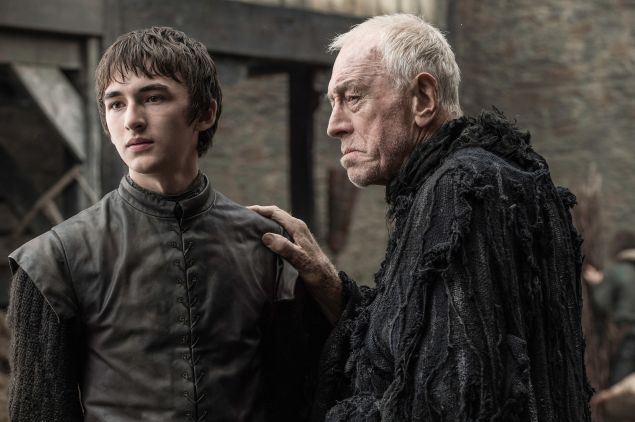 Isaac Hempstead and Max von Sydow.