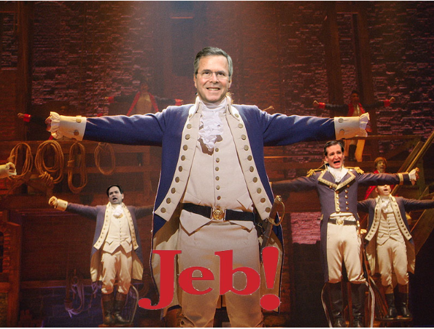 The logo for 'Jeb! An American Disappointment!'