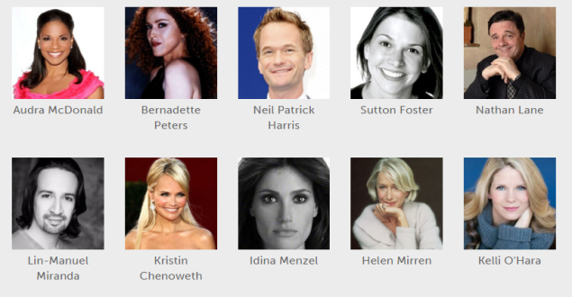Some of the actors users can follow on Show-Score.