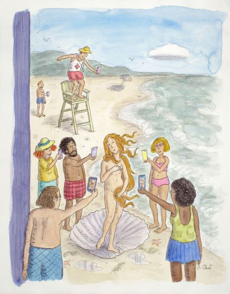 The Birth of Venus (2014), cover illustration for The New Yorker.