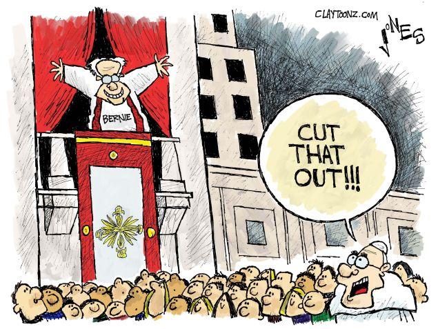 Bernie's Vatican Detour.