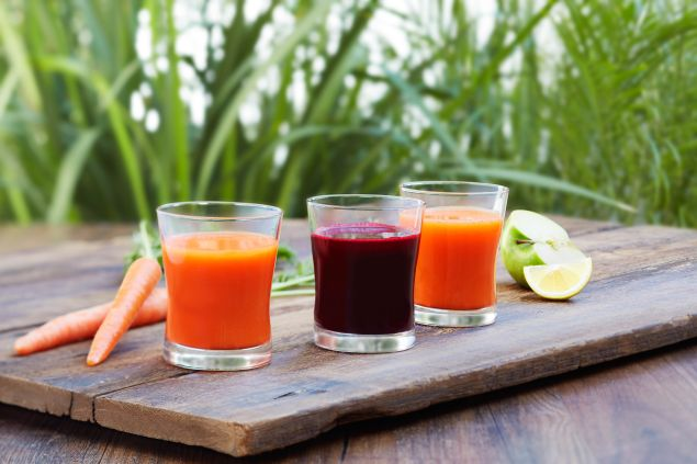 Detox with fresh-pressed juices at California Pizza Kitchen before you retox at the arena.