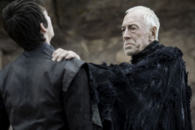 Isaac Hempstead Wright and Max von Sydow.