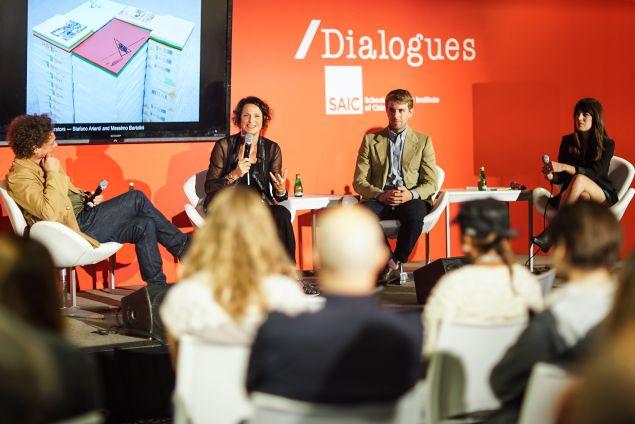 Diego Perrone, Letizia Ragaglia, Alessandro Possati and Expo Chicago Director of Programming Stephanie Cristello.