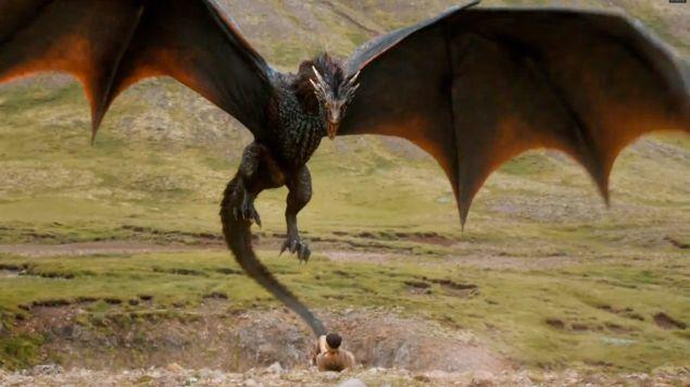 That's Drogon. The dragon.