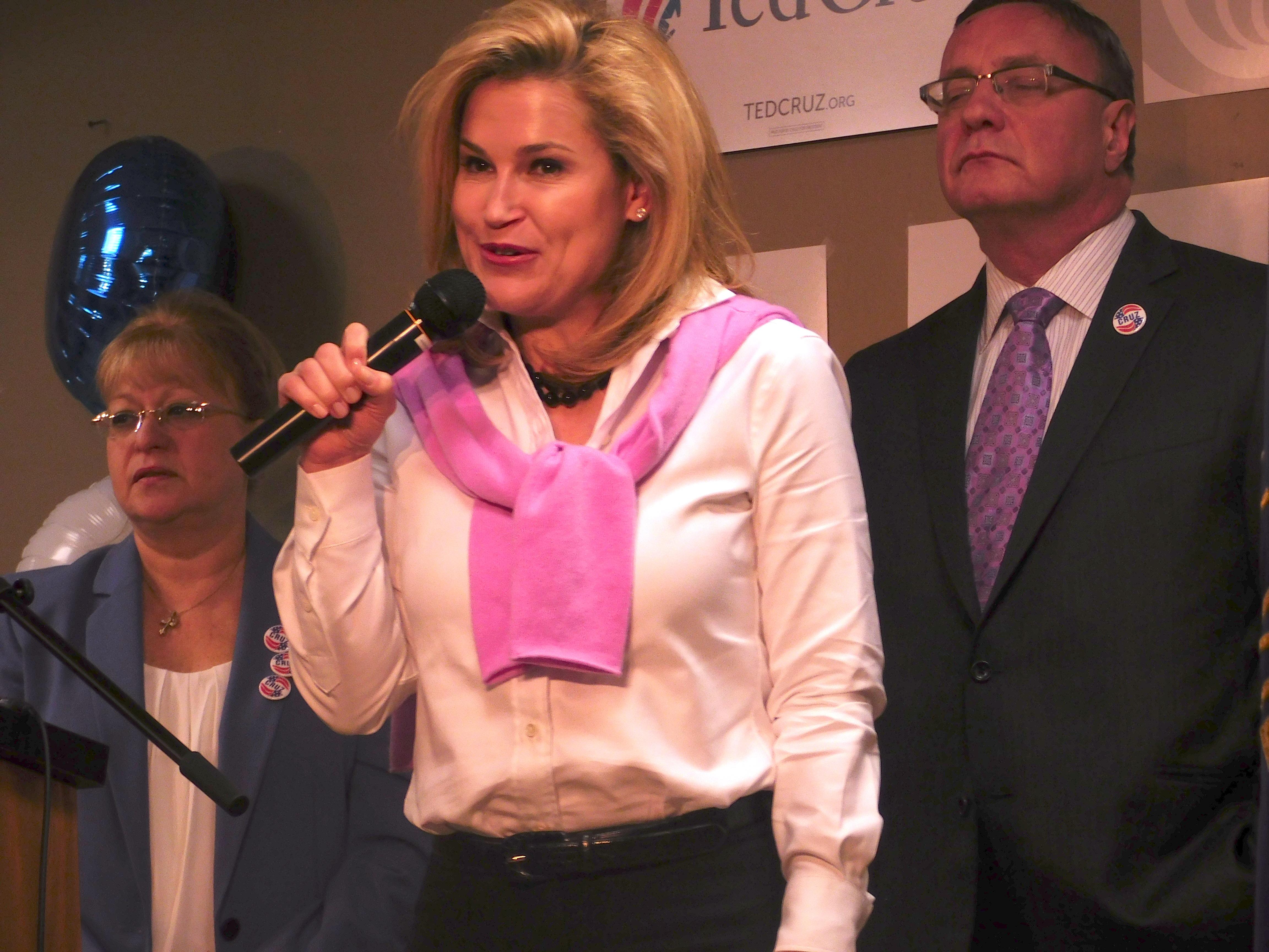 Heidi Cruz at an event in Wayne.