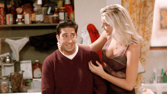 """In """"The One With The Dirty Girl,"""" Ross breaks up with a slob."""