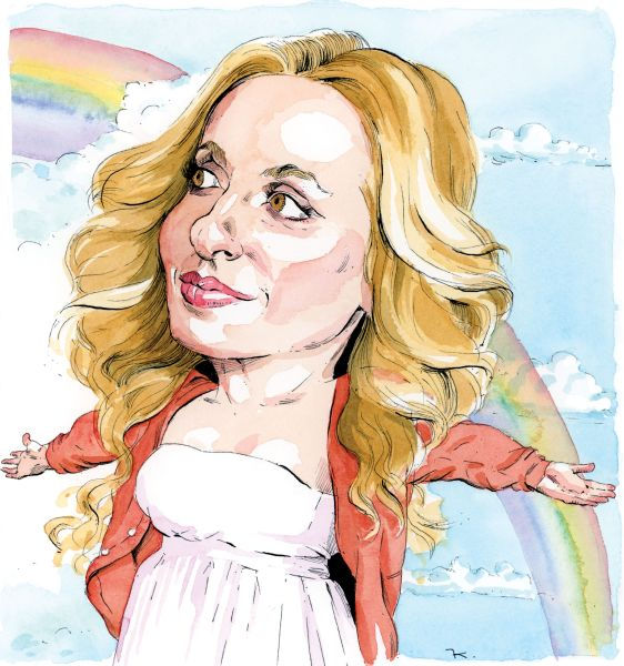 Gabrielle Bernstein (Illustration: Paul Kisselev for Observer)