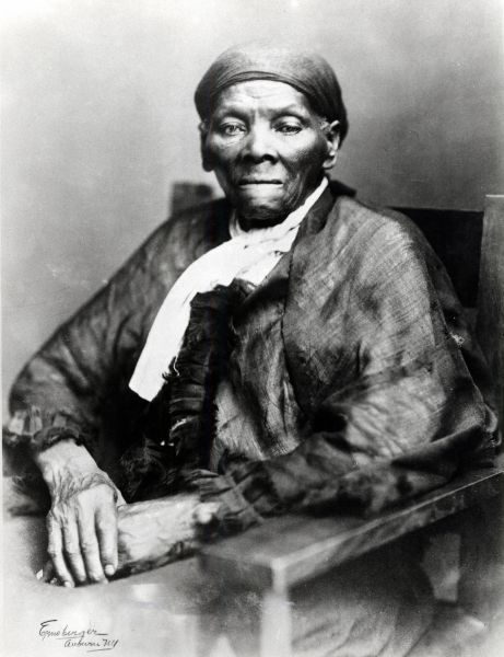 UNSPECIFIED - CIRCA 1754: Harriet Tubman (c1820-1913) American born in slavery, escaped 1849, and became leading Abolitionist. Active as a 'conductor' in the Underground Railroad. Photograph.