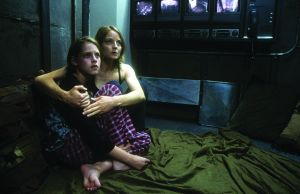 Homebound security: Jodie Foster and Kristen Stewart in the 2002 film Panic Room.