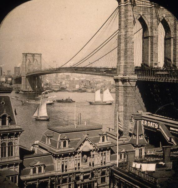 Brooklyn Bridge in New York.