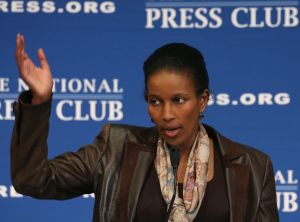 Hirsi Ali speaks at the National Press Club in Washington, D.C., last year.