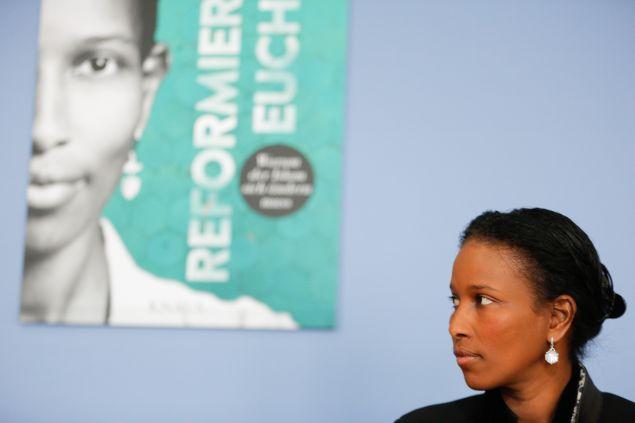 Ayaan Hirsi Ali attends a book presentation in April 2015 in Berlin.
