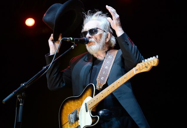 Musician Merle Haggard performs onstage during day one of 2015 Stagecoach, California's Country Music Festival, at The Empire Polo Club on April 24, 2015 in Indio, California.