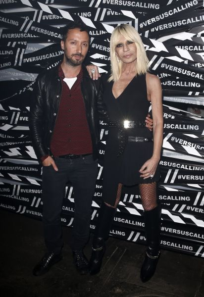 Anthony Vaccarello with Donatella Versace