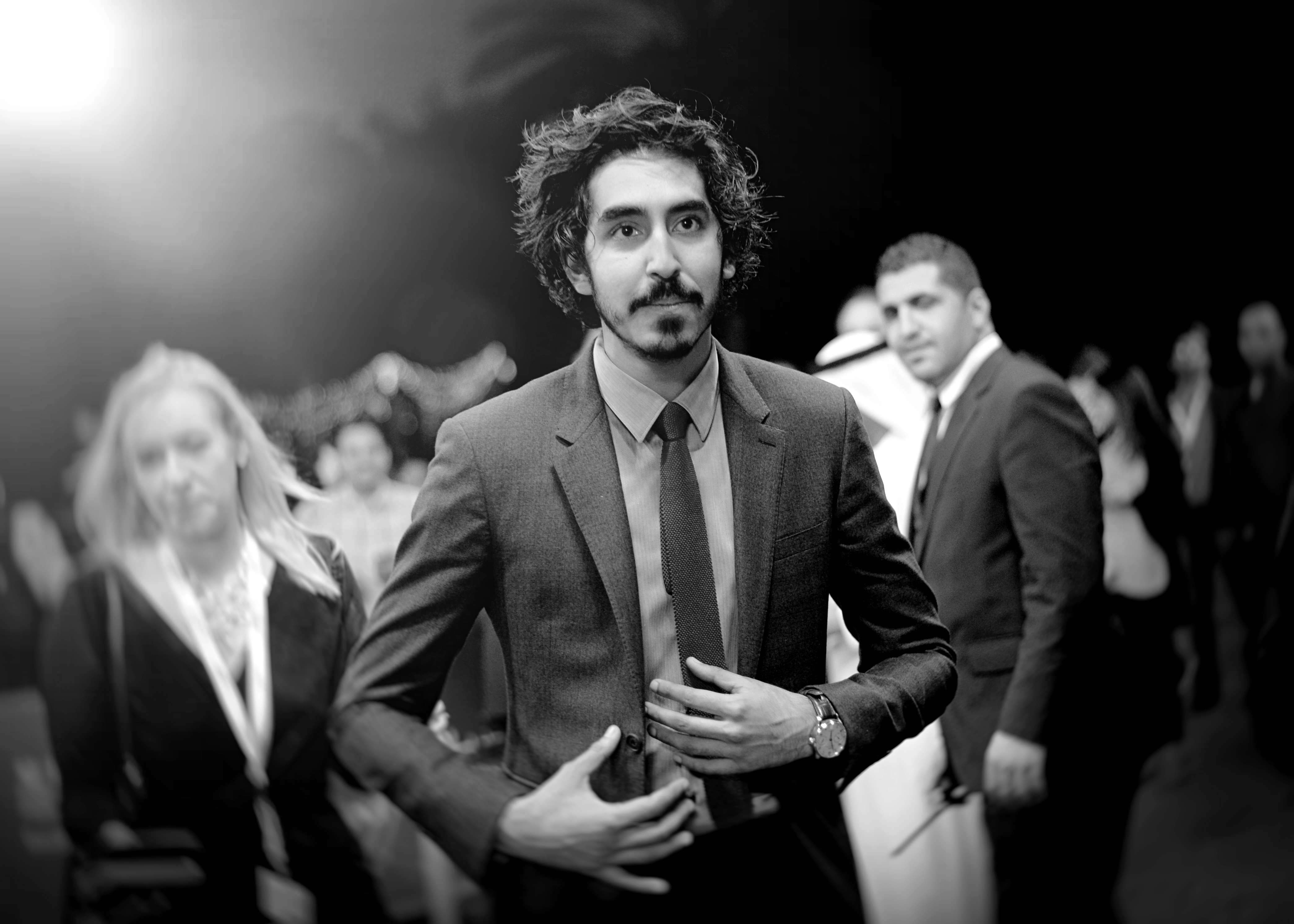 """Actor Dev Patel as he attends """"The Man Who Knew Infinity"""" premiere during day four of the 12th annual Dubai International Film Festival held in Dubai, United Arab Emirates."""