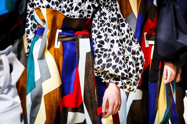 An example of Marni's color palette from Milan Fashion Week Fall/Winter 2016/17.