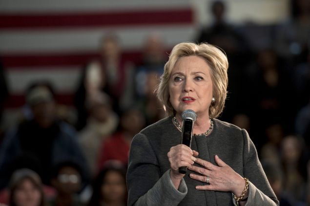 """Hillary Clinton hosts a """"Women for Hillary"""" Town Hall meeting in Brooklyn on April 5."""