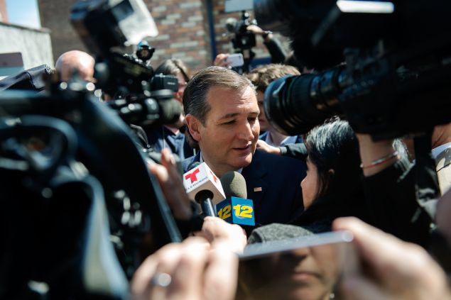Sen. Ted Cruz in New York City.