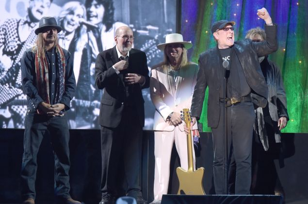 Inductee Rick Nielsen of Cheap Trick speaks onstage at the 31st Annual Rock And Roll Hall Of Fame Induction Ceremony at Barclays Center of Brooklyn on April 8, 2016 in New York City.