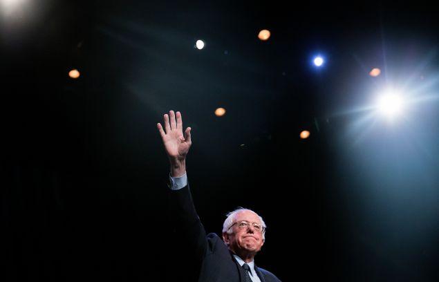 Sen. Bernie Sanders at the Apollo Theater.