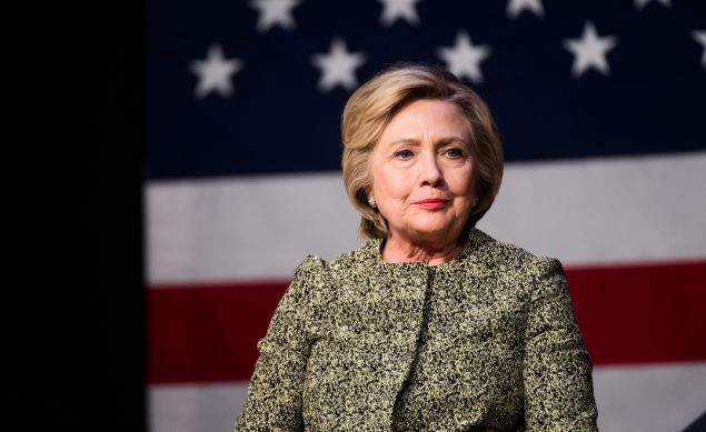 Democratic presidential candidate Hillary Clinton talks during a conversation on gun violence at the Landmark Theater on April 11, 2016 in Port Washington, New York. The New York Democratic primary is scheduled for April 19th.