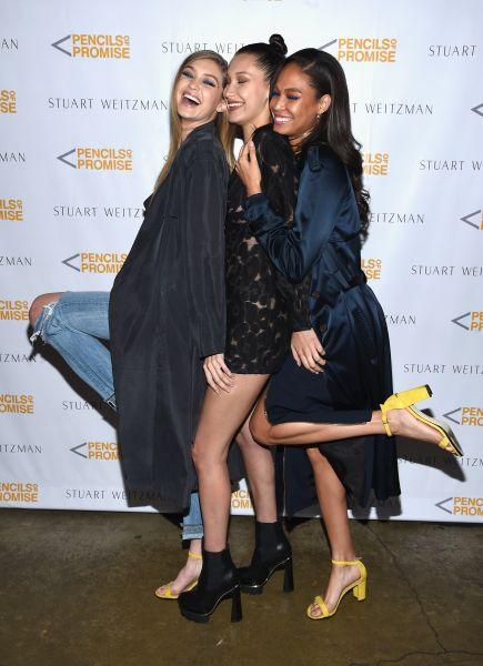 Gigi Hadid, Bella Hadid and Joan Smalls