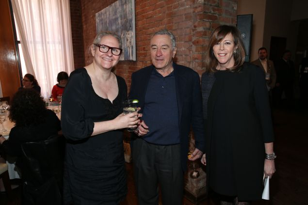 NEW YORK, NY - APRIL 13: Jane Rosenthal (R) and Robert De Niro attend the Programmers' Lunch during 2016 Tribeca Film Festival at Thalassa on April 13, 2016 in New York City. (Photo by Rob Kim/Getty Images for Tribeca Film Festival)