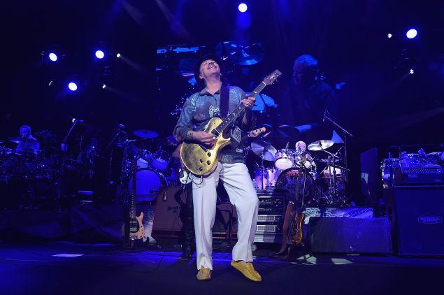 NEW YORK, NY - APRIL 13: Carlos Santana performs at Madison Square Garden on April 13, 2016 in New York City.