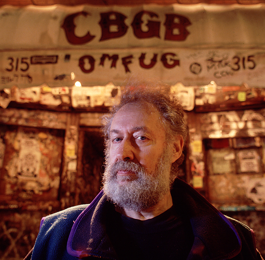 Hilly Kristal, owner of CBGB's in front of his famous music club November 29, 1993
