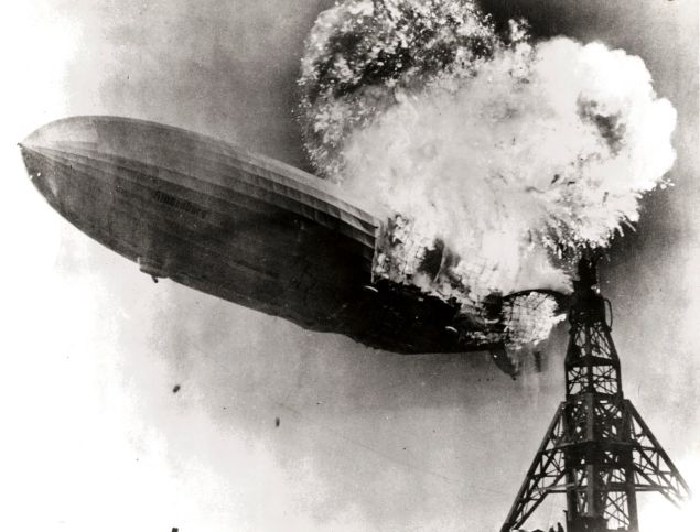 The Hindenburg disaster.